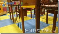 兒童新樂園室內遊戲室地墊安裝工作