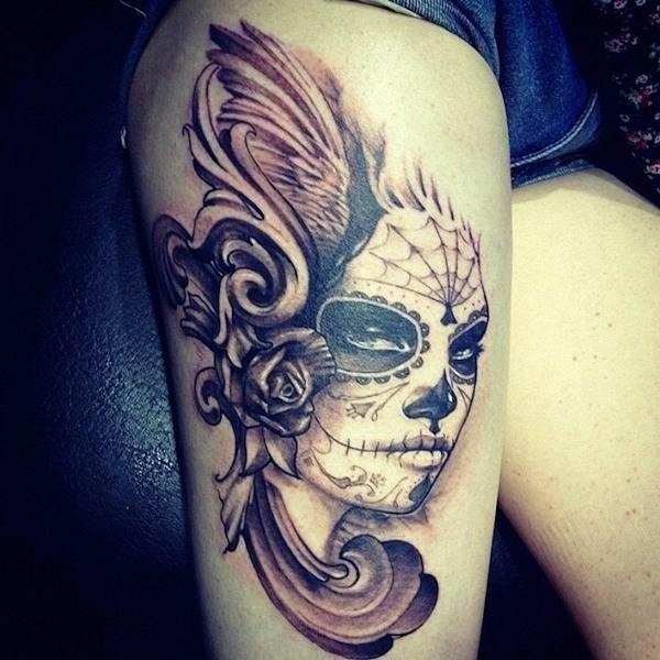 dia_dos_mortos_coxa_tatuagem