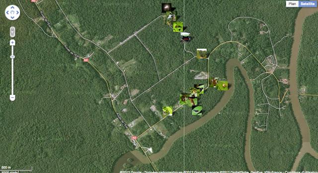 Localisation des photos près de la Rivière Comté et de la RN2