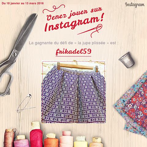 Concours Instagram mondial tissus frikadel