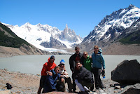 Group photo at Cerro Torre - Southern Patagonia