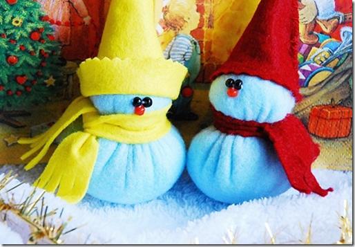 Manualidades  muñeco de nieve paso a paso