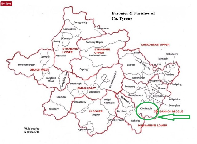 County Tyronne Ireland-highlighted