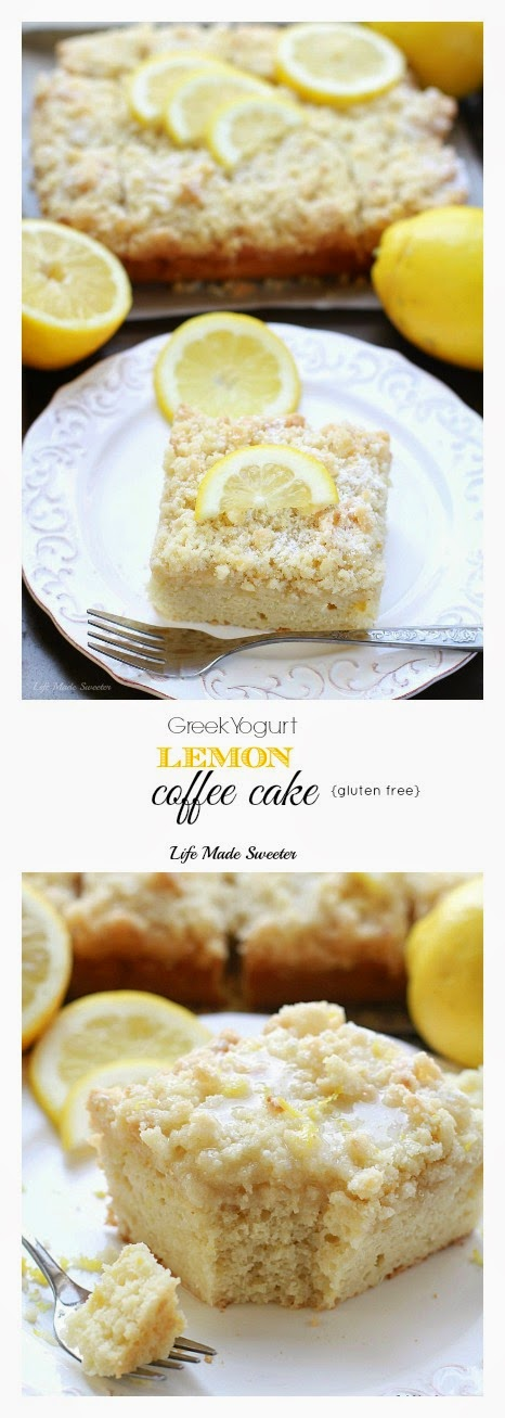 Greek Yogurt Lemon Coffee Cake - A bright & flavorful lightened up lemon coffee cake with a buttery streusel topping & delicious sweet & tangy lemon glaze..jpg