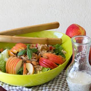 Apple & Chicken Salad with Honey Poppyseed Dressing.