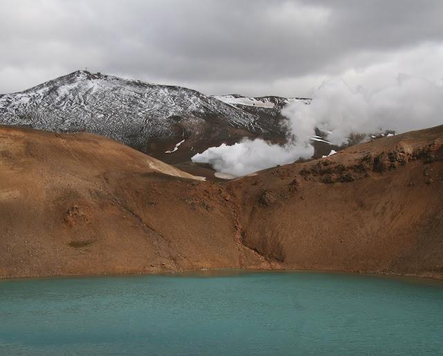 Viti crater lake near Krafla geothermal site