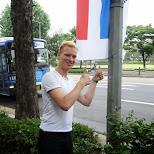 the dutch flag in Seoul in Seoul, Seoul Special City, South Korea
