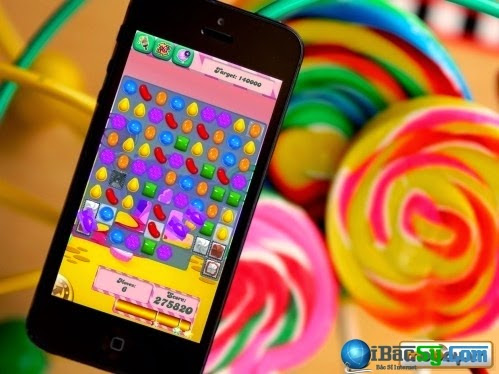 candy crush saga trên Iphone 6 và 6 plus
