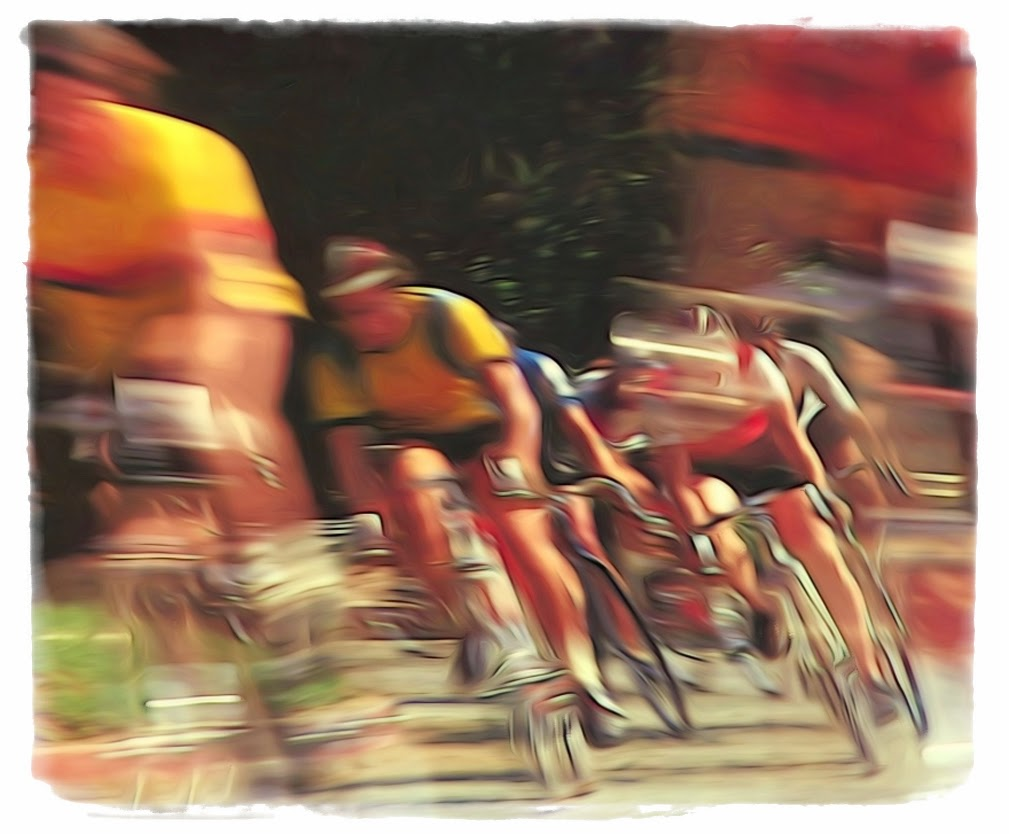 """Speeding Cyclists"" by Bill Black - 3d Place A Special"