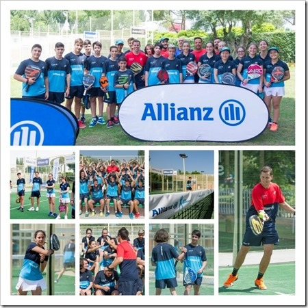 Éxito del Allianz Junior Pádel Camp con Paquito Navarro en Madrid.