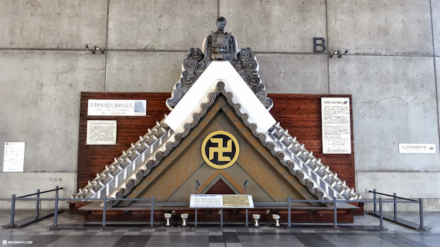 ancient shrine roof at the edo-tokyo museum in Japan in Tokyo, Tokyo, Japan
