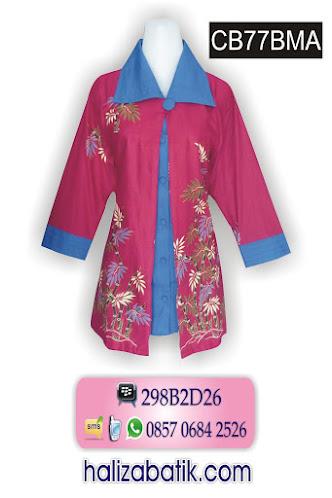 model batik modern, blus batik wanita, koleksi baju batik wanita