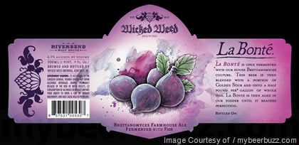 Wicked Weed - La Bonte Farmhouse Ale With Figs