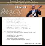 Programa del Concierto de Saša Dejanović, en Amigos de la Guitarra de Valencia