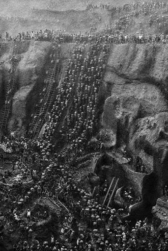 Gold Rush in Serra Pelada, Brazil 1980