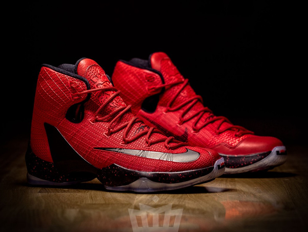 Latest 2016 University Red Nike Lebron 13 Elite Red Black