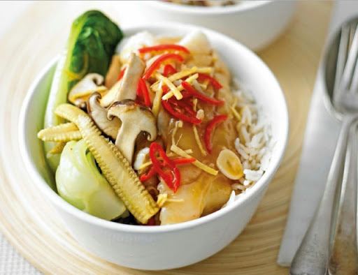 Oriental cod & vegetables