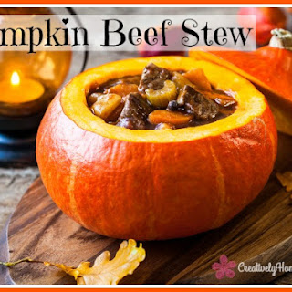 Printable Beef Stew Baked in a Pumpkin Recipe Card