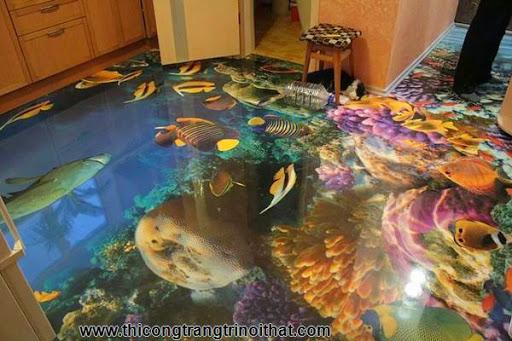 Biến phòng tắm thành đại dương với tranh nghệ thuật 3D đầy ấn tượng - Thi công trang trí nội thất-9