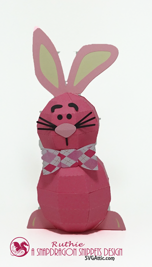 Bunny 3D Spheres Figure, SnapDragon Snippets, Ruthie Lopez