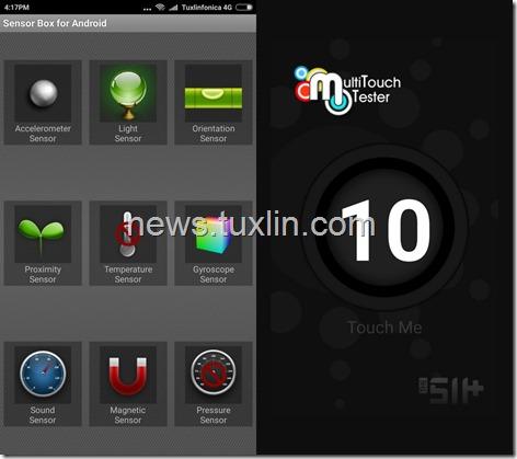 Benchmark Xiaomi Redmi Note 3 Pro Sensorbox dan Multitouch