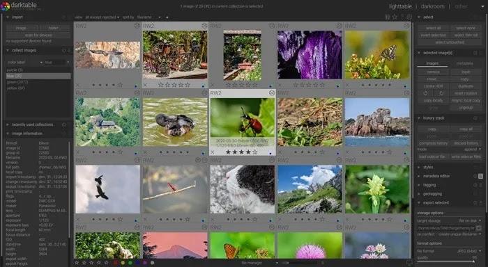 أفضل محرر صور لنظام التشغيل Mac Darktable