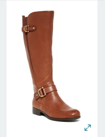 110e0293a7a1 Joylynn wide calf boots ~ Naturalizer - We all need a brown riding boots.  Leather and buckles plus comfort all in this boots.