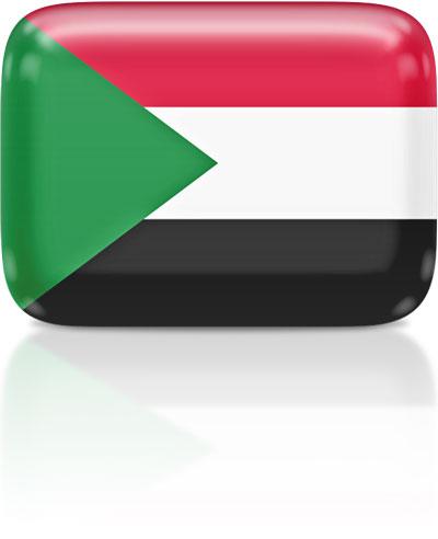 Sudanese flag clipart rectangular