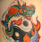yin yang dragon koi carp - Good vs Evil Tattoos Pictures