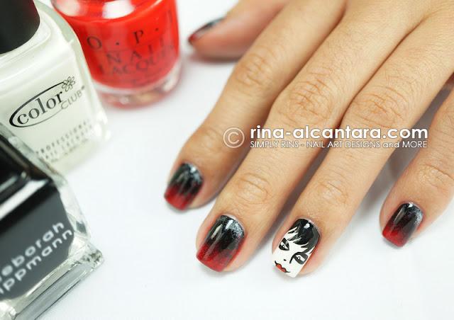 Dark Shadows Nail Art Design