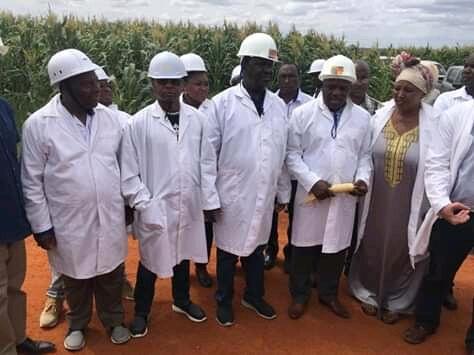 Raila Odinga in Galana Kulalu food security project.