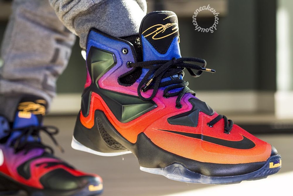 finest selection 9086c 784d2 ... A Rare Look at the Doernbecher LeBron 13 Out in the Wild ...