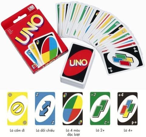 Bộ gồm 108 Thẻ Bài Uno Card Game Mattel
