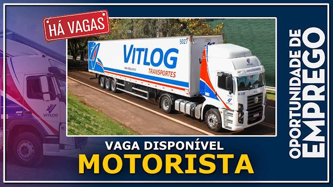 Transportadora VitLog abre vagas para motorista entregador