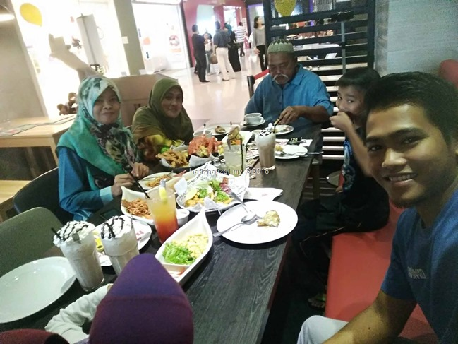 dinner bersama family di manhattan