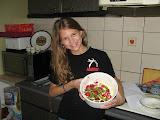 bethanie making a dessert