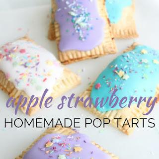 Apple Strawberry Homemade Pop Tarts.