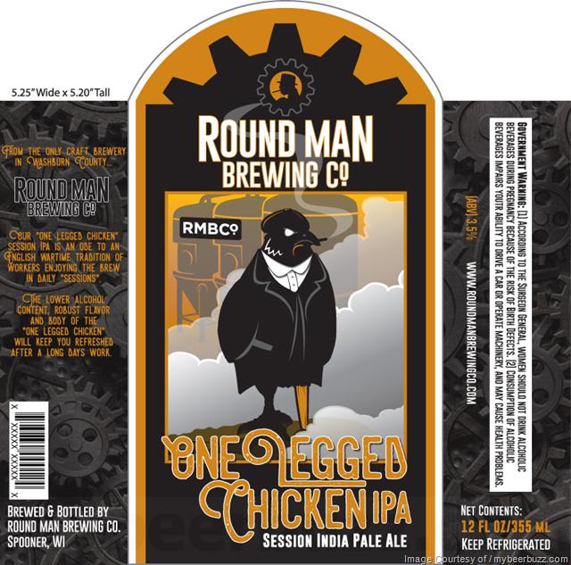 Round Man Brewing - One Legged Chicken IPA