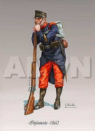 Soldado de Infantería. 1860