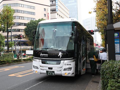 西鉄高速バス「ライオンズエクスプレス」 8546 池袋駅東口到着(H24.11.29)