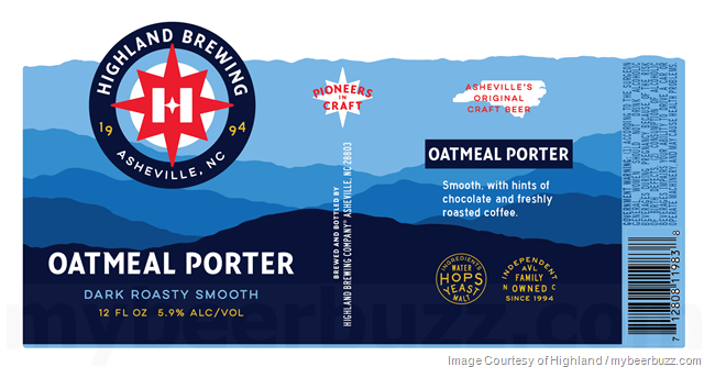 Highland Brewing Rebranding Continues With Oatmeal Porter & AVL IPA