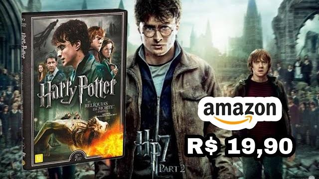 DVD DUPLO: Harry Potter e as Relíquias da morte parte 2 em promoção apenas R$ 19,90 na Amazon