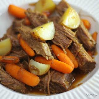 Easy French Onion Beef Brisket.