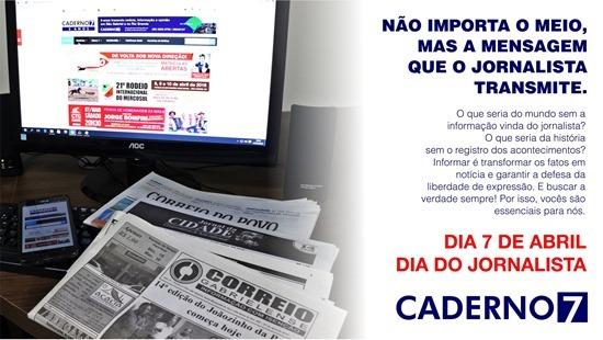 Mensagem Dia do Jornalista Caderno7