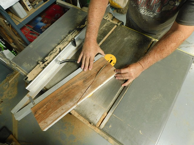 cutting the base foot