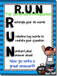 RUN constructed response poster