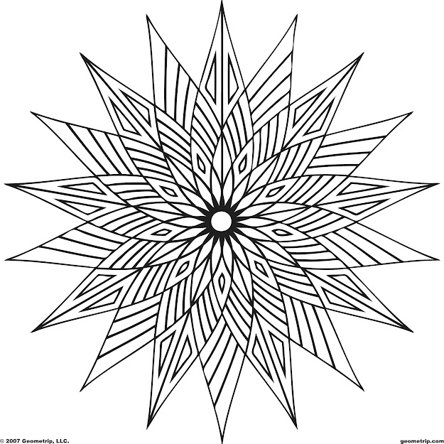 These Geometric Coloring Pages Pictures Are Online Coloring Pages That Can  Be Colored With Color Gradients