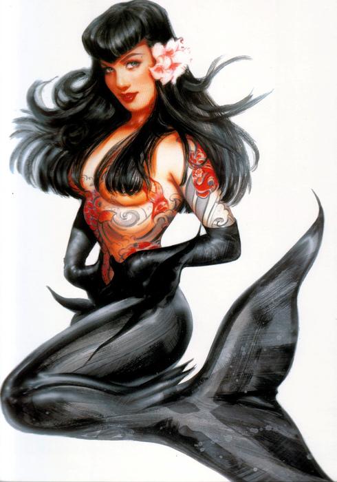 Sexy Black Mermaid, Mermaids