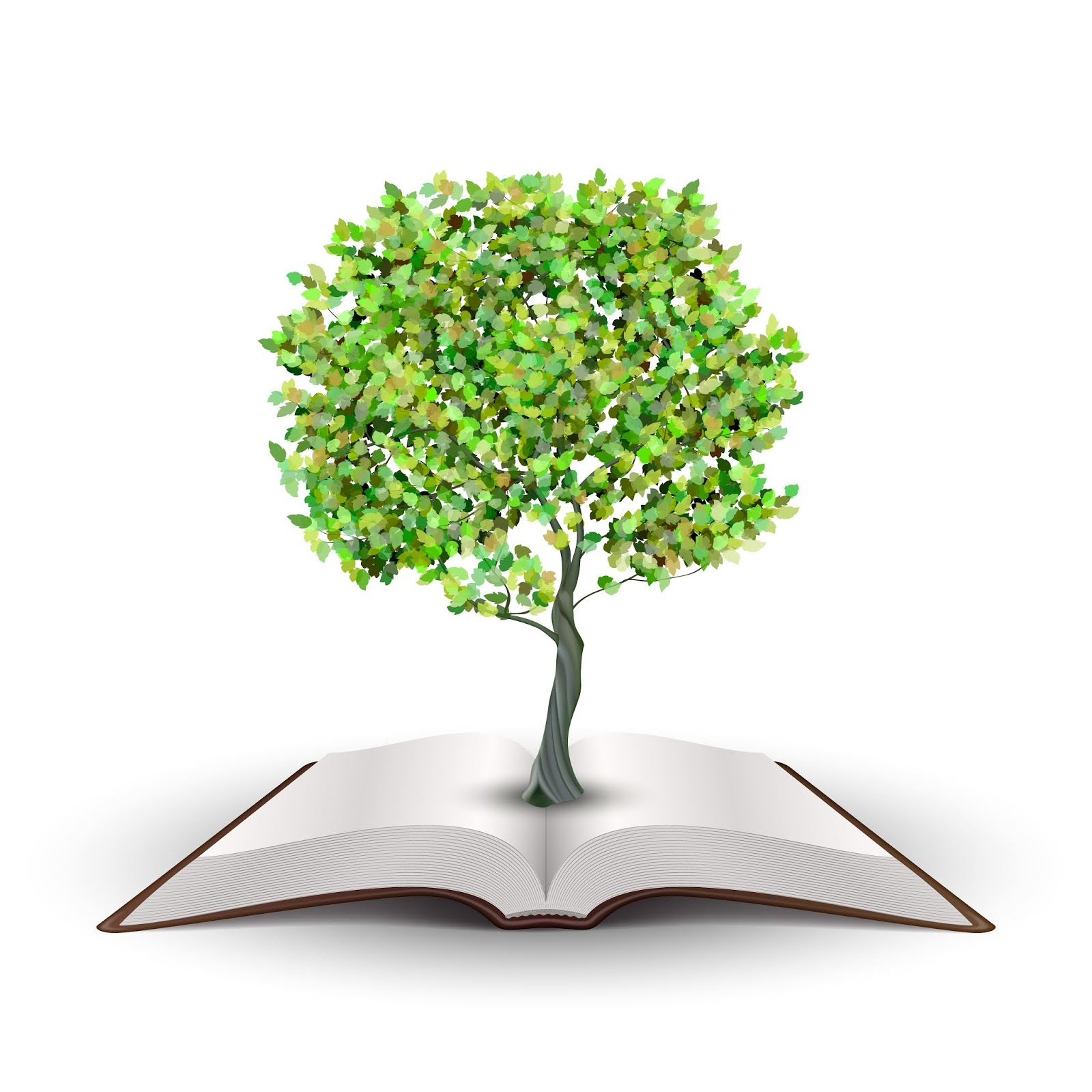 Tree Growing From Open Book Vector Isolated White Free Download Vector CDR, AI, EPS and PNG Formats