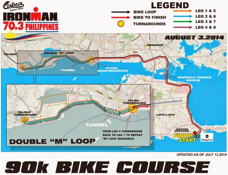 Cobra Ironman 70.3 Philippines 2014 Bike Course